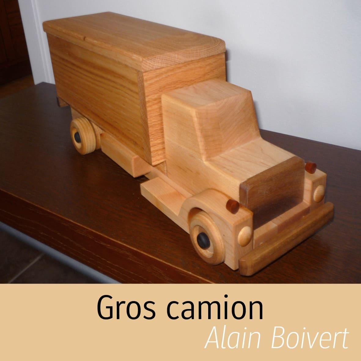 Camion en bois Alain Boisvert