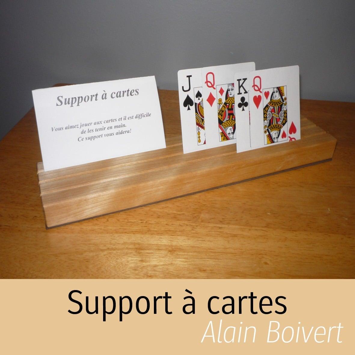 support à cartes Alain Boisvert