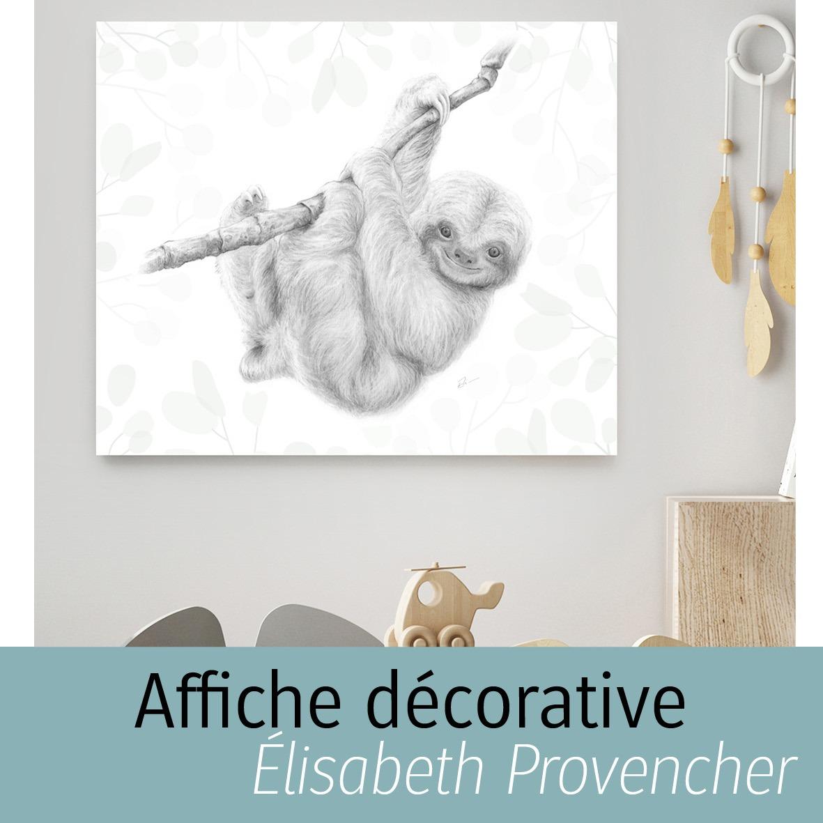 Affiche décorative d'Élisabeth Provencher