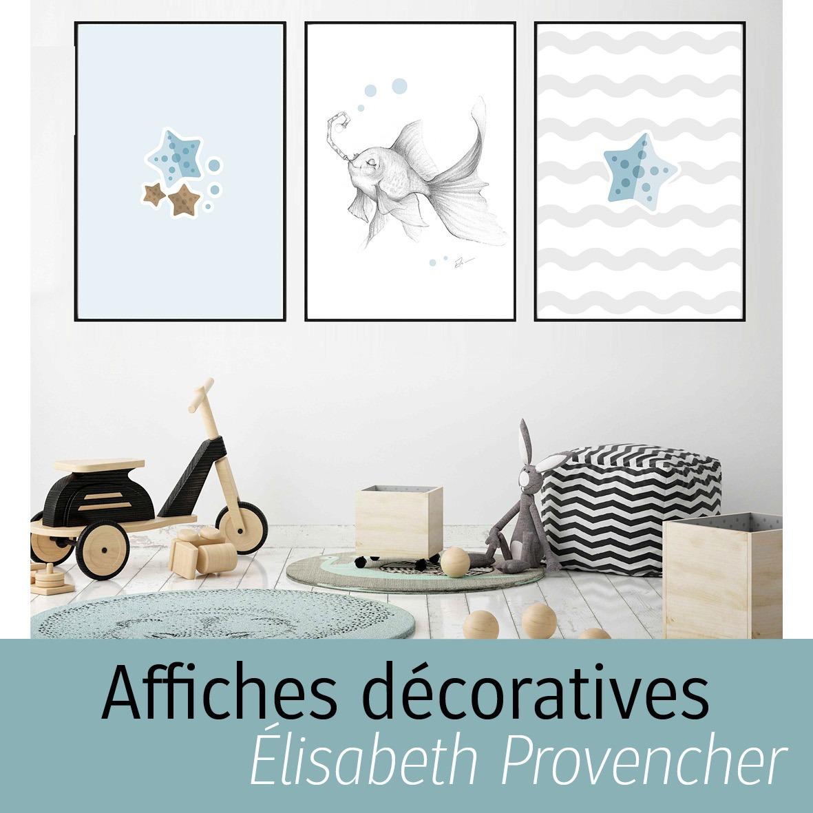 Affiches décoratives d'Élisabeth Provencher