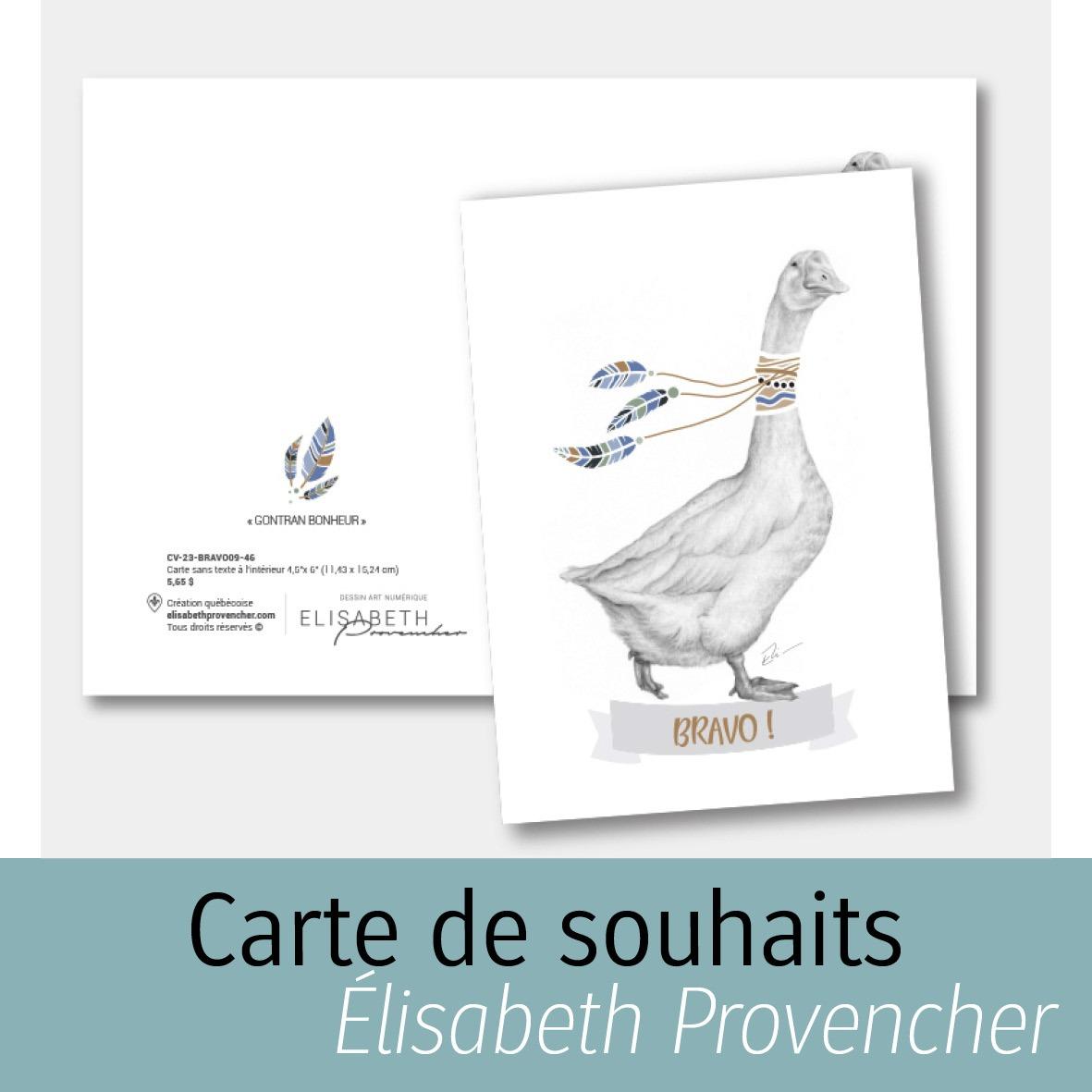 Carte de souhaits d'Élisabeth Provencher