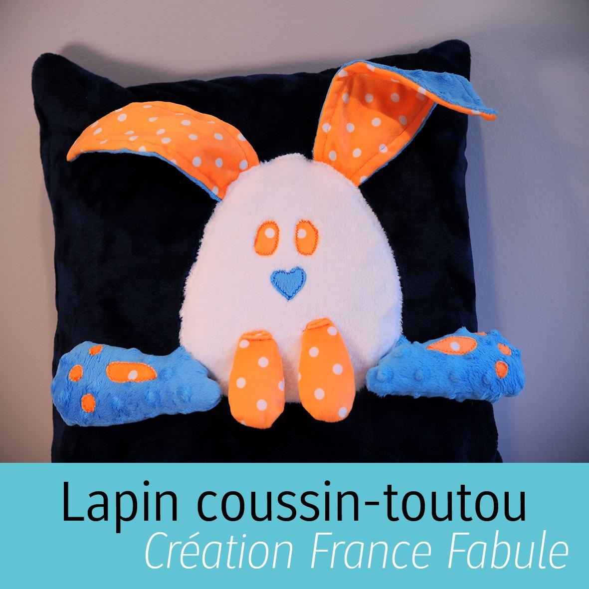Coussin-toutou Créations France Fabule de Manu Factum