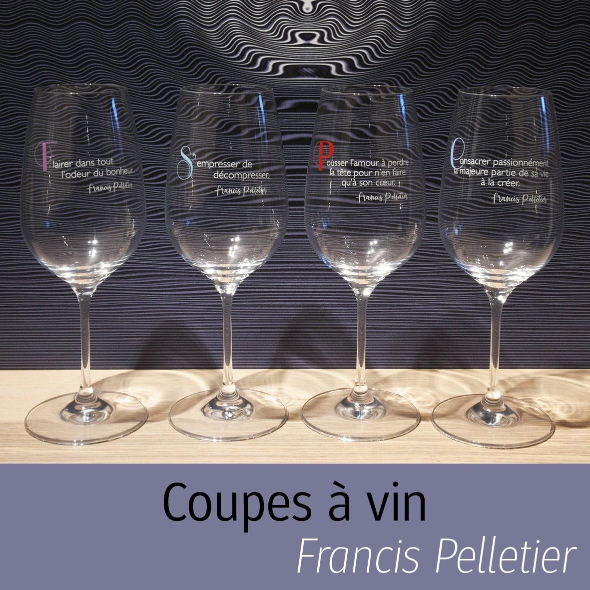 Coupes à vin de Francis Pelletier