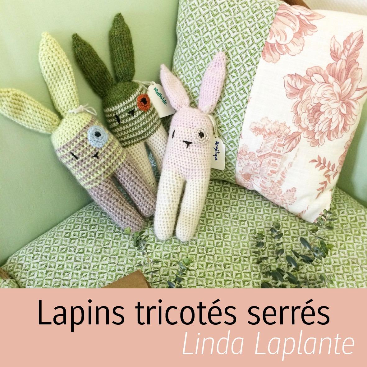 lapins tricotés Bec au vol