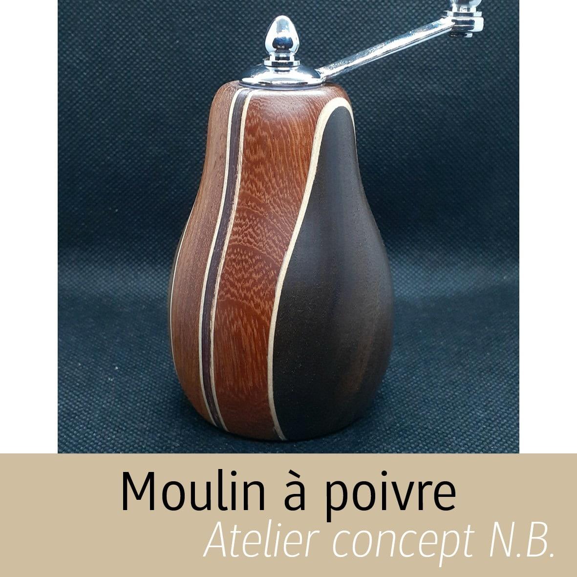 Moulins à poivre en Bois Atelier concept N.B