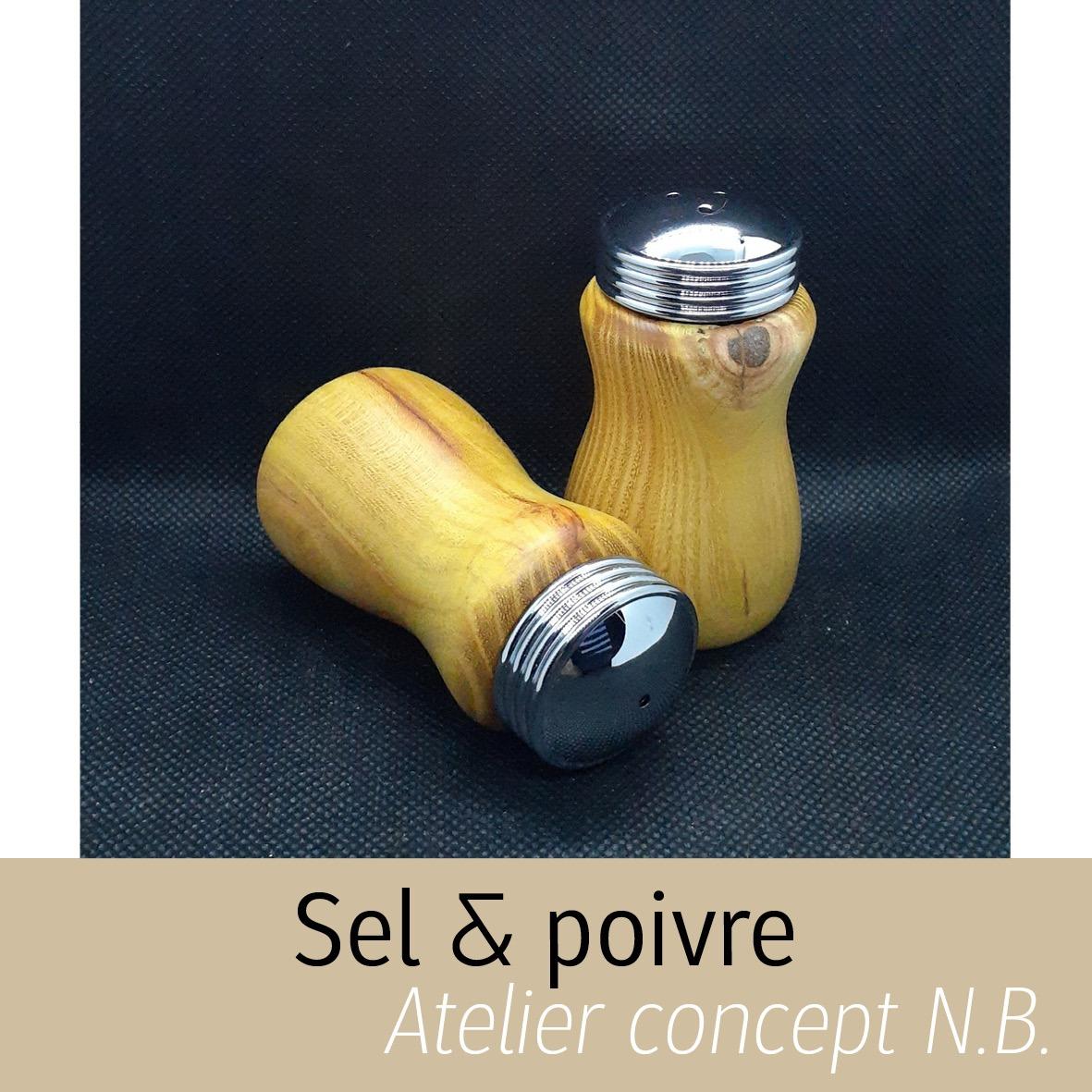 Salière et poivrière Atelier concept N.B