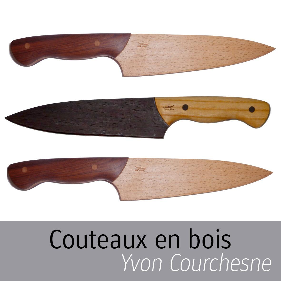 Couteaux en bois Yvon Courchesne